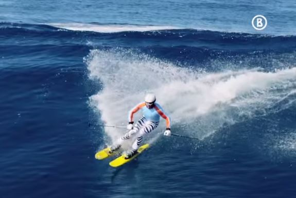 Wave skiing 1