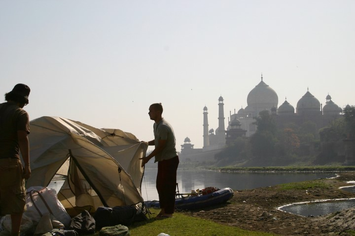Around the Next Bend - rafting adventure on Ganges Delhi to Dhaka (camping Ganges shore India) (Small)
