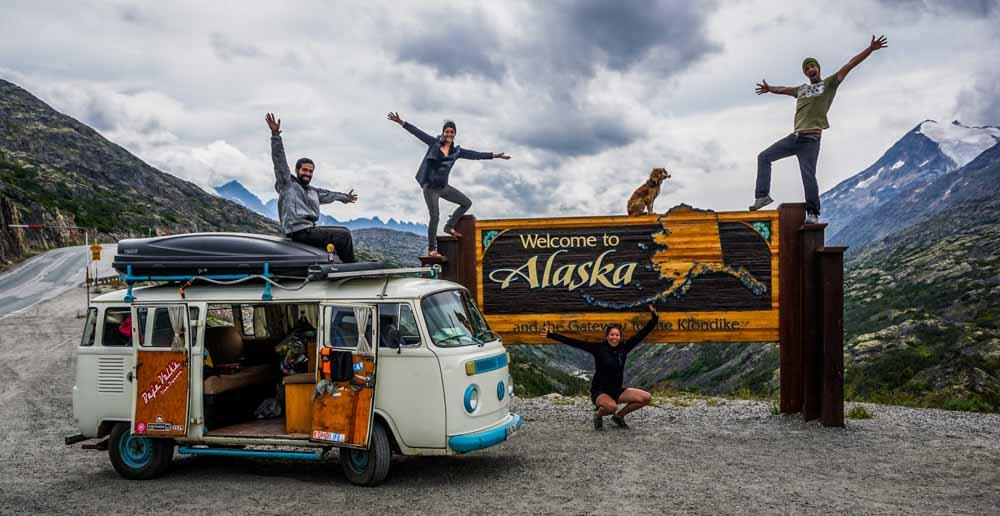 The Long Way Up - Hasta Alaska VW kombi roadtrip (welcome Alaska)