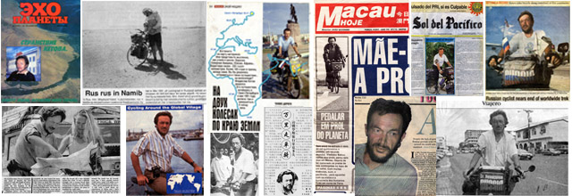 Vladislav Ketov cycling the edge of earth (newspaper publications)