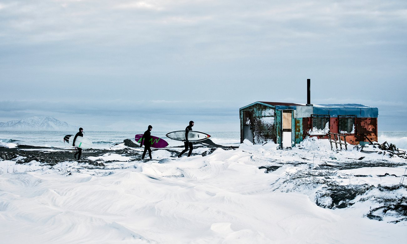 Surfing Siberia _ Arctic Ocean winter surf