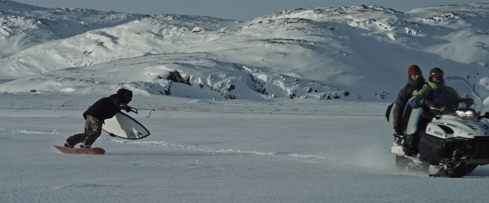 Surfing Siberia an Arctic Ocean winter surf..arriving by Snowboard [1]