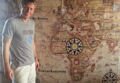 ContinentRun - traveling to 5 continents in 1 day Gunna Garfors map  (featured)