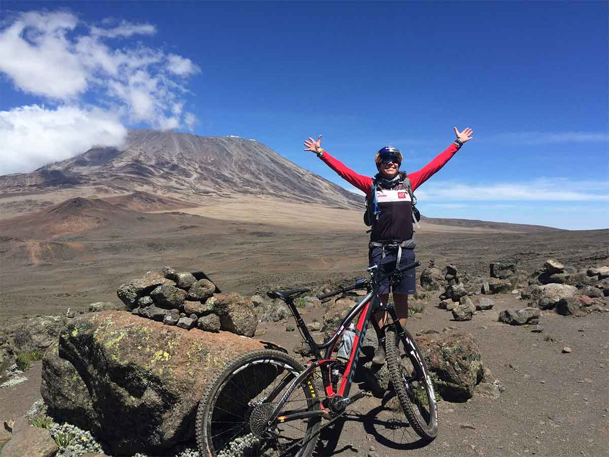 Rebecca Rusch Queen of Pain Mountainbiking Kilimanjaro 2016