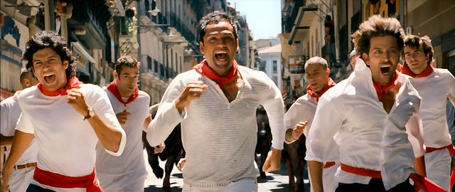 Zindagi Na Milegi Dobara in pamplona running with the bulls