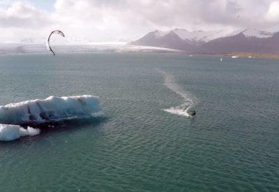 kitesurfing Iceland with Nuria Goma