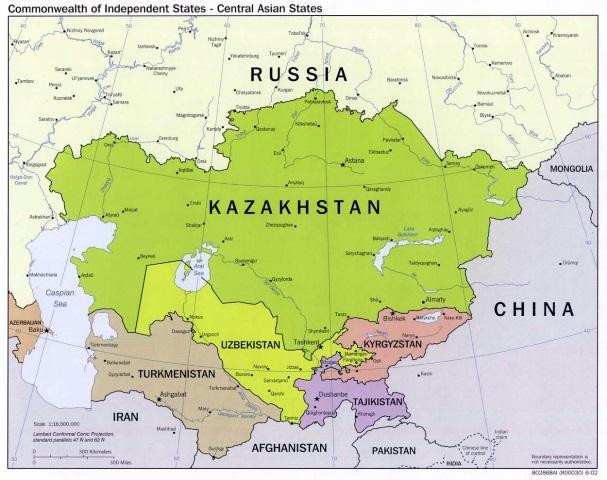 The Stans include Kazakhstan, Kyrgyzstan, Tajikistan, Uzbekistan, Turkmenistan