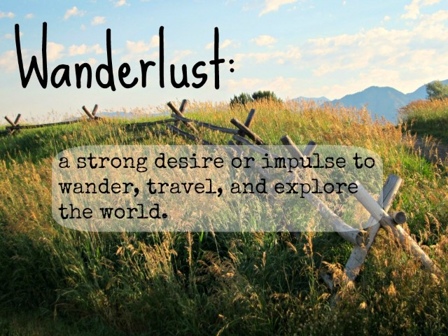 wanderlust - travel words and vocabulary