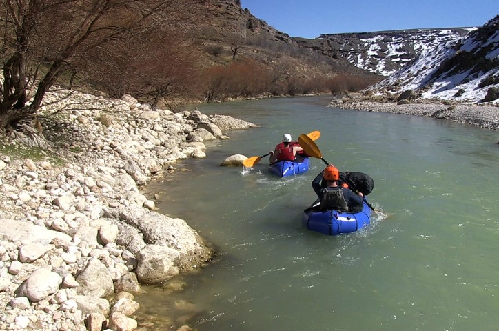 Karun Iran Hiking biking paddling Iran's longest river source to sea