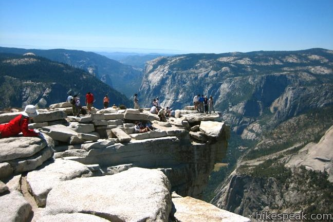 Hiking holiday ideas: half dome in Yosemite national park