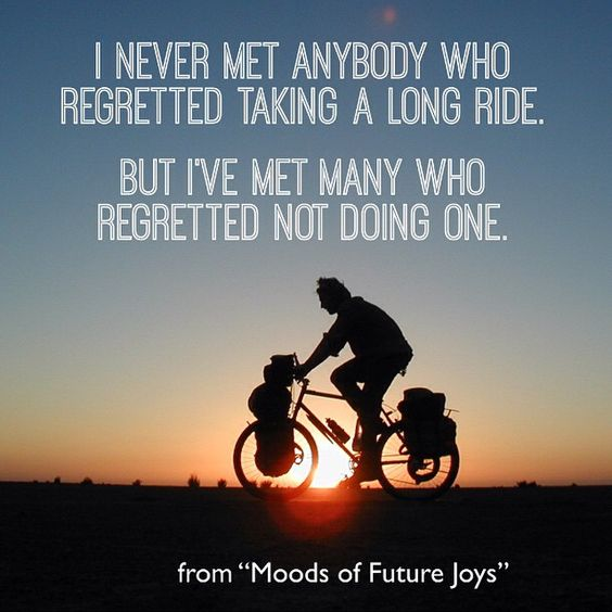 bicycle touring documentary film quote