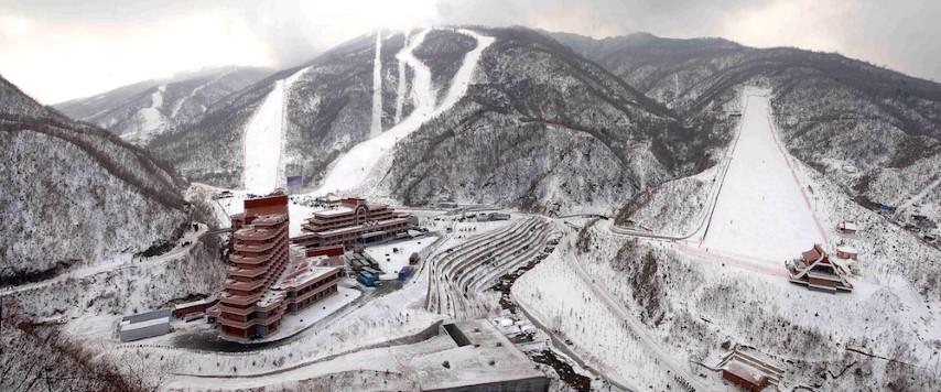 Skiing in North Korea in Masikryong Ski Resort